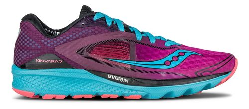 Womens Saucony Kinvara 7 Running Shoe - Pink/Purple/Blue 10