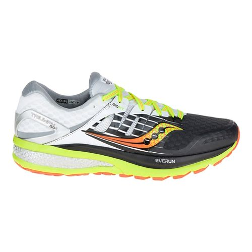 Mens Saucony Triumph ISO 2 Running Shoe - Black/Citron 12.5