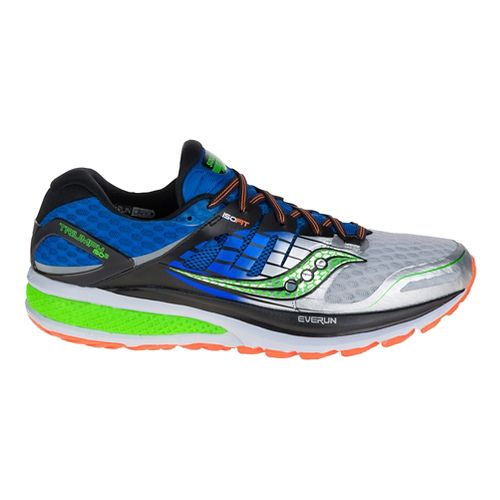 Mens Saucony Triumph ISO 2 Running Shoe - Blue/Silver 10.5