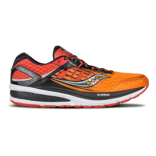 Mens Saucony Triumph ISO 2 Running Shoe - Red/Orange/Black 8.5