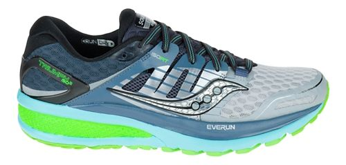 Womens Saucony Triumph ISO 2 Running Shoe - Grey/Blue 6
