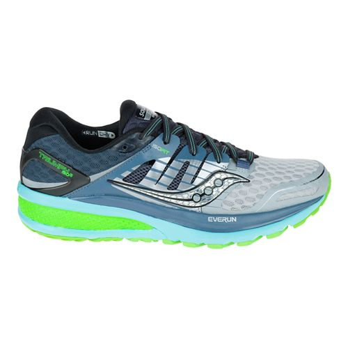 Womens Saucony Triumph ISO 2 Running Shoe - Grey/Blue 10.5