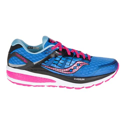 Womens Saucony Triumph ISO 2 Running Shoe - Blue/Pink 6.5