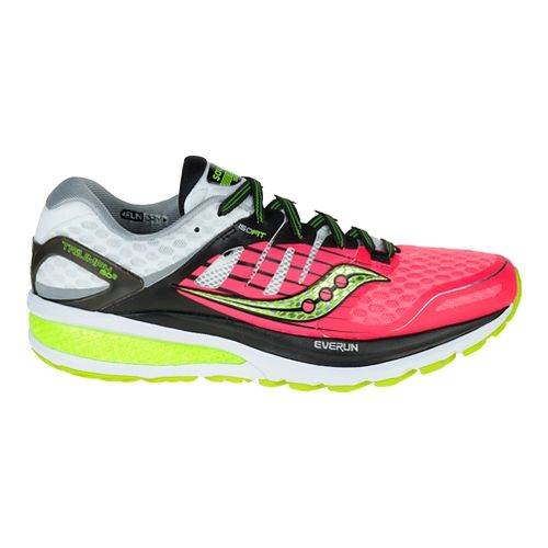 Womens Saucony Triumph ISO 2 Running Shoe - Coral/Silver 5