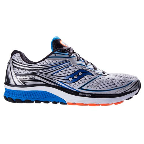 Mens Saucony Guide 9 Running Shoe - Silver/Blue 8