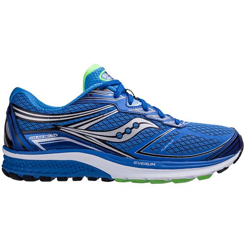 Mens Saucony Guide 9 Running Shoe - Silver/Blue 14