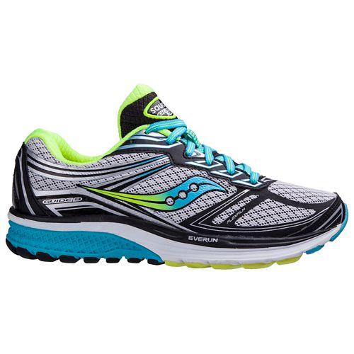 Womens Saucony Guide 9 Running Shoe - Grey/Blue 9.5