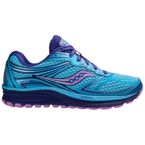 Womens Saucony Guide 9 Running Shoe - Blue/Purple 6