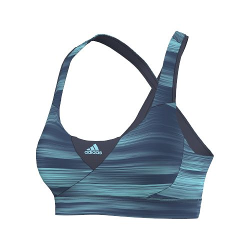 Womens adidas Supernova Racer Q3 Graphic Sports Bras - Grey/Blue M