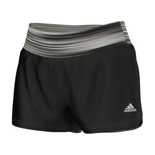 Womens adidas Mia Q3 Graphic Unlined Shorts - Black/Grey S