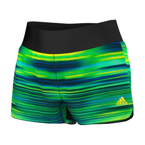 Womens adidas Mia Q3 Graphic Unlined Shorts - Bold Blue/Flash Lime M