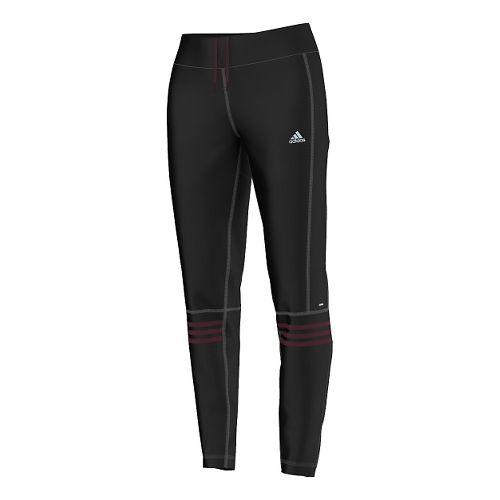 Womens adidas Response Astro Full Length Pants - Black/Maroon L