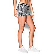 Womens Under Armour Heatgear Armour Shorty (Printed) Compression & Fitted Shorts - Black XL