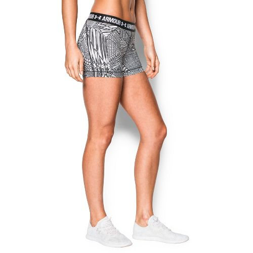 Womens Under Armour Heatgear Armour Shorty (Printed) Compression & Fitted Shorts - Black M