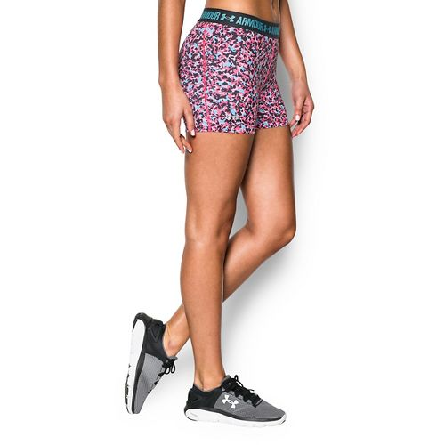 Womens Under Armour Heatgear Armour Shorty (Printed) Compression & Fitted Shorts - ...