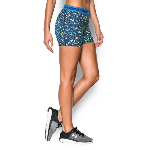 Womens Under Armour Heatgear Armour Shorty (Printed) Compression & Fitted Shorts - Dynamo Blue XL