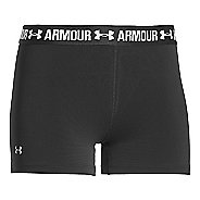 Womens Under Armour Heatgear Armour Shorty Compression & Fitted Shorts - Black XS
