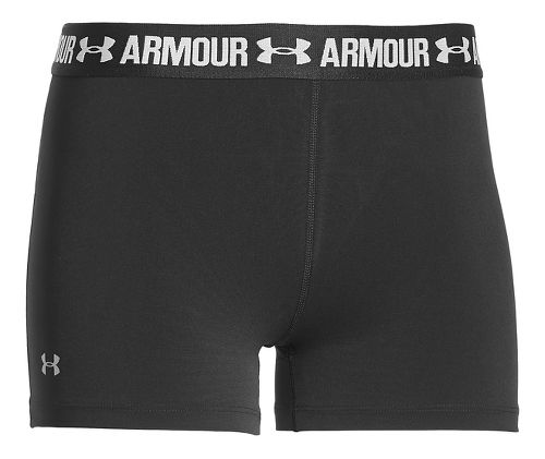 Womens Under Armour Heatgear Armour Shorty Compression & Fitted Shorts - Black L