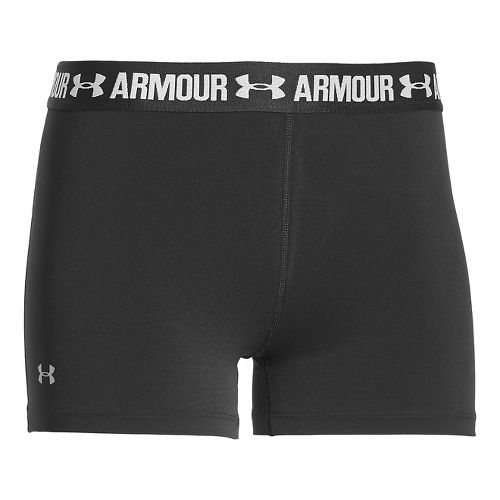 Womens Under Armour Heatgear Armour Shorty Compression & Fitted Shorts - Black XL