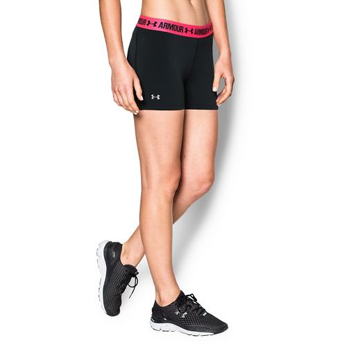 Womens Under Armour Heatgear Armour Shorty Compression & Fitted Shorts - Black/Red S