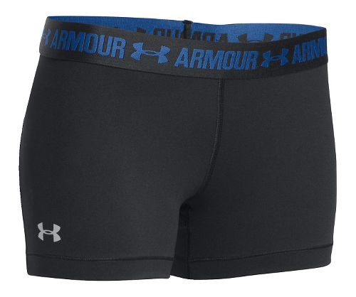 Womens Under Armour Heatgear Armour Shorty Compression & Fitted Shorts - Black/Black M