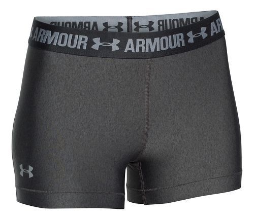 Womens Under Armour Heatgear Armour Shorty Compression & Fitted Shorts - Carbon/Anthracite L