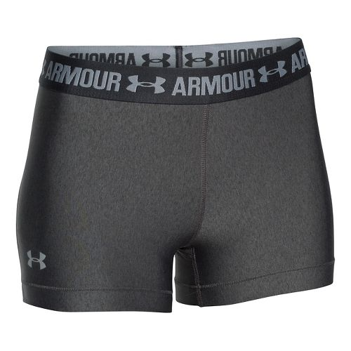 Womens Under Armour Heatgear Armour Shorty Compression & Fitted Shorts - Carbon/Anthracite M