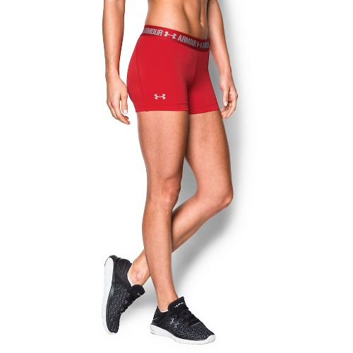 Womens Under Armour Heatgear Armour Shorty Compression & Fitted Shorts - Red S