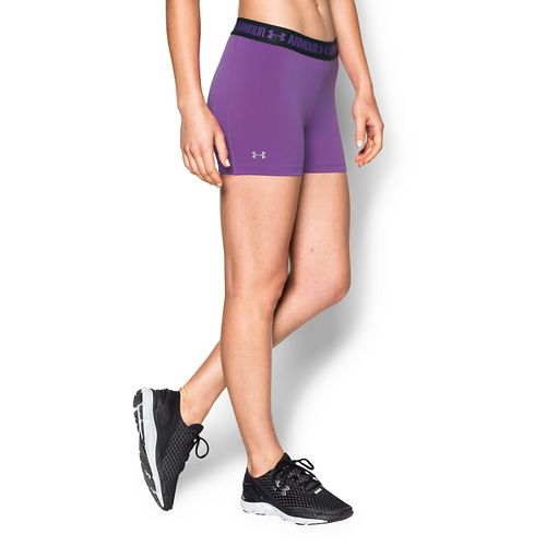 Womens Under Armour Heatgear Armour Shorty Compression & Fitted Shorts - Magenta/Black XL