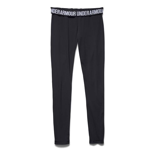 Womens Under Armour Favorite - Wordmark Leggings Tights - Black/White L