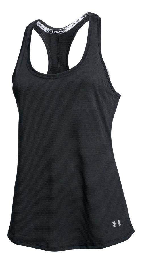 Womens Under Armour Streaker Sleeveless & Tank Technical Tops - Black XL