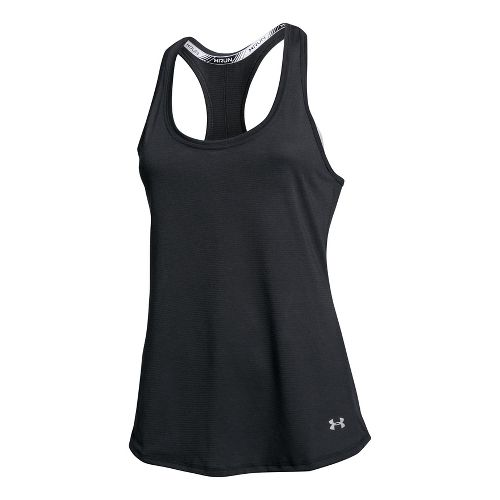 Womens Under Armour Streaker Sleeveless & Tank Technical Tops - Black XS