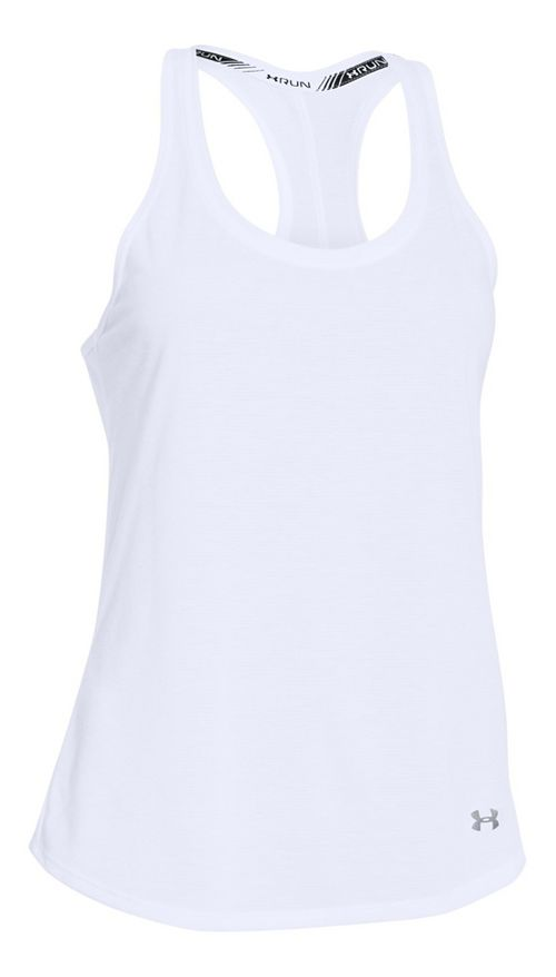 Womens Under Armour Streaker Sleeveless & Tank Technical Tops - White XS