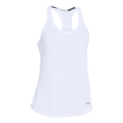Womens Under Armour Streaker Sleeveless & Tank Technical Tops - White XL