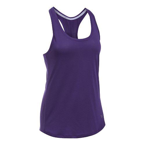 Womens Under Armour Streaker Sleeveless & Tank Technical Tops - Purple Emerite XL
