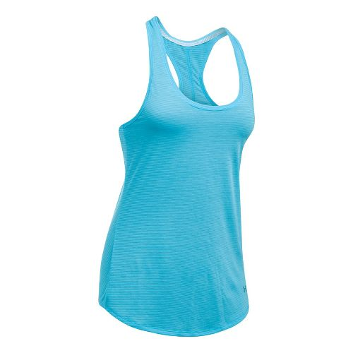 Womens Under Armour Streaker Sleeveless & Tank Technical Tops - Island Blues L