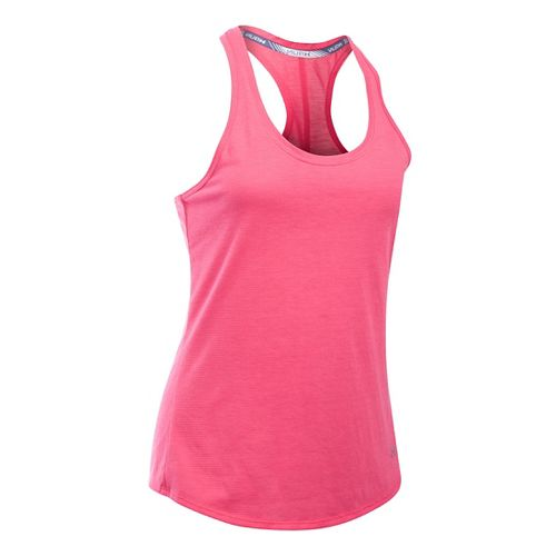 Womens Under Armour Streaker Sleeveless & Tank Technical Tops - Pink Sky L