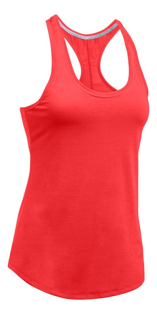 Womens Under Armour Streaker Sleeveless & Tank Technical Tops - Pomegranate L