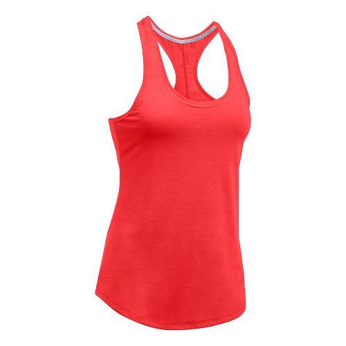 Womens Under Armour Streaker Sleeveless & Tank Technical Tops - Pomegranate XS