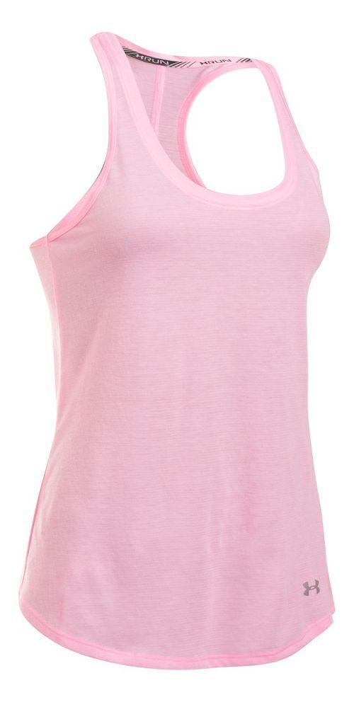 Womens Under Armour Streaker Sleeveless & Tank Technical Tops - Petal Pink XL