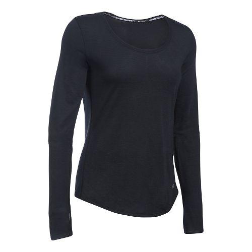 Womens Under Armour Streaker Long Sleeve Technical Tops - Black XL