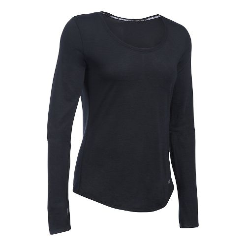 Womens Under Armour Streaker Long Sleeve Technical Tops - Black XS