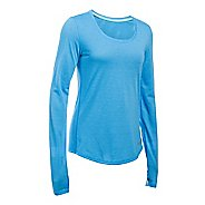 Womens Under Armour Streaker Long Sleeve Technical Tops - Water M