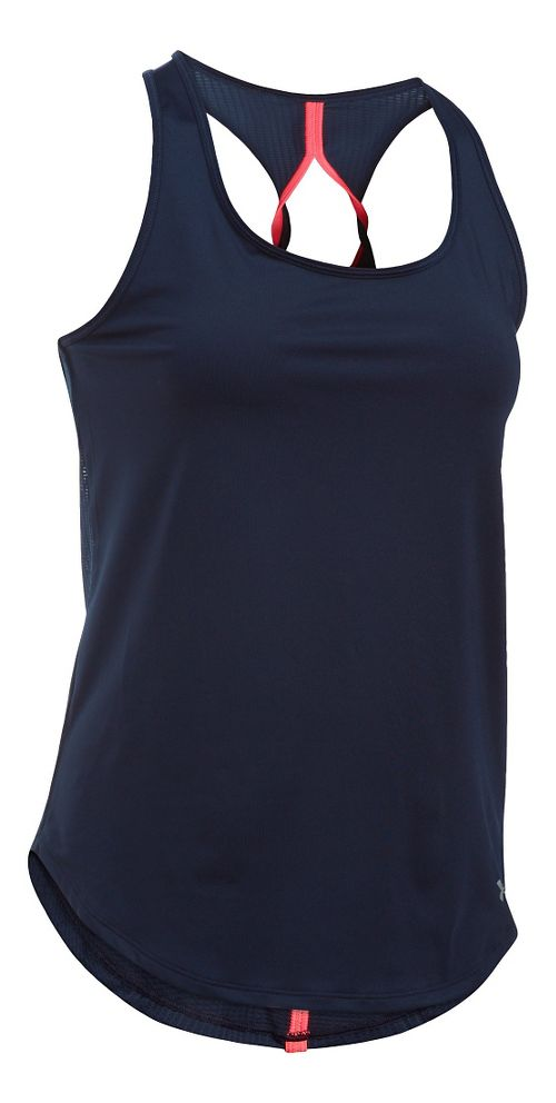 Womens Under Armour Fly By Run Sleeveless & Tank Technical Tops - Midnight L
