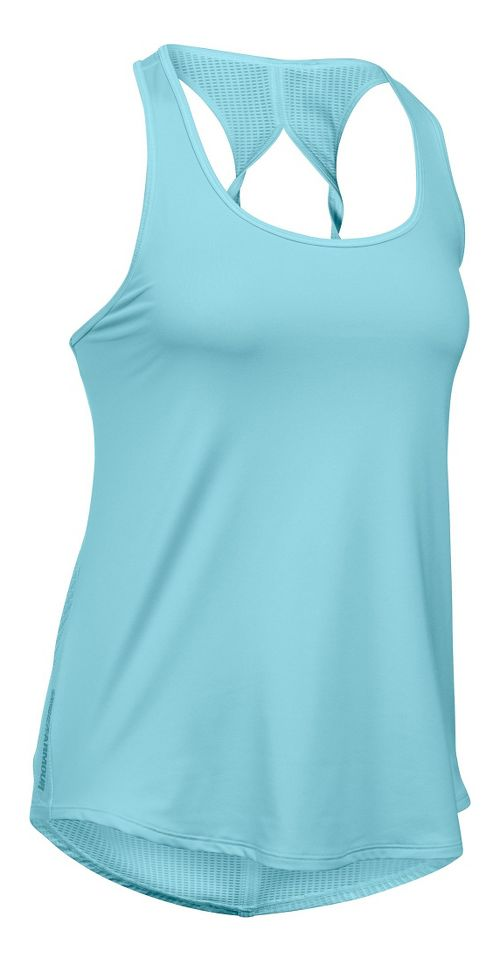 Womens Under Armour Fly By Run Sleeveless & Tank Technical Tops - Maui L