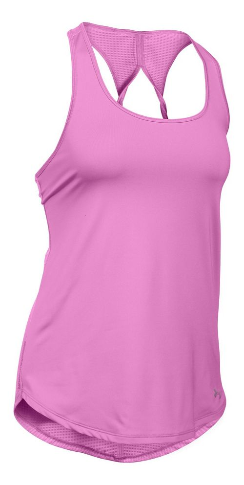 Womens Under Armour Fly By Run Sleeveless & Tank Technical Tops - Verve Violet L