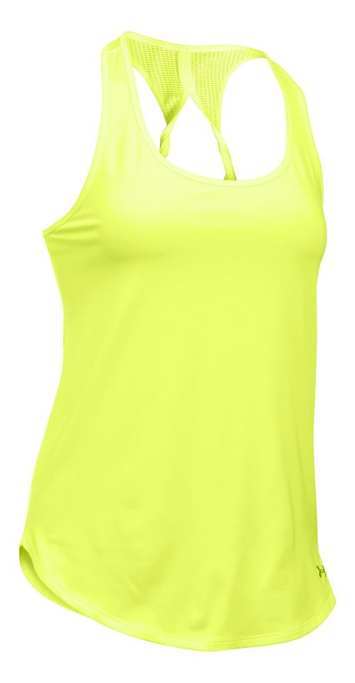 Womens Under Armour Fly By Run Sleeveless & Tank Technical Tops - X-Ray XS