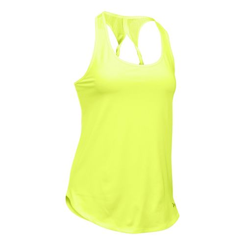 Womens Under Armour Fly By Run Sleeveless & Tank Technical Tops - X-Ray L