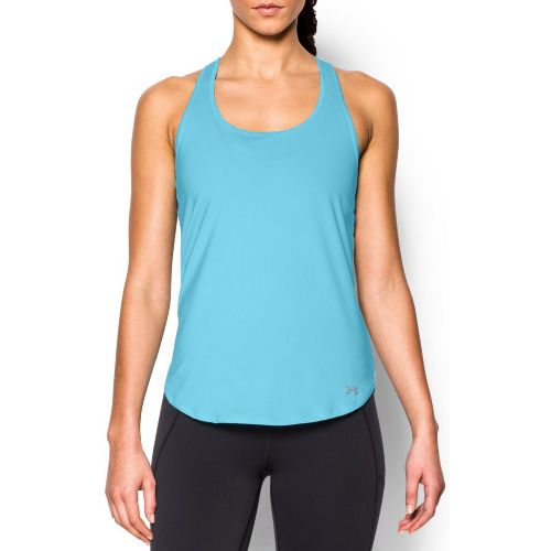 Womens Under Armour Fly By Run Sleeveless & Tank Technical Tops - Sky Blue L ...