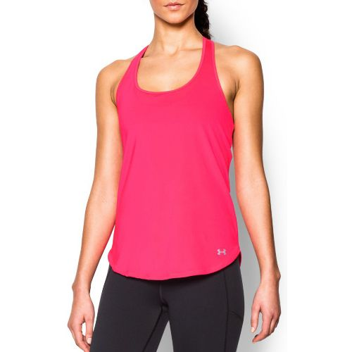 Womens Under Armour Fly By Run Sleeveless & Tank Technical Tops - Harmony Red L ...
